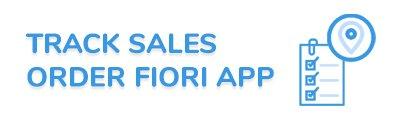 SAP Track Sales Order Fiori App